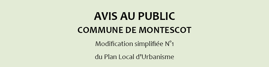 Modification simplifiée N°1 du PLU